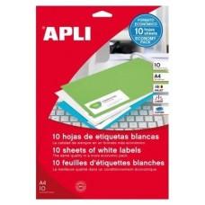 ETIQUETAS APLI A4 25.4X10MM