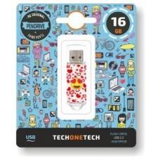 PENDRIVE TECH1TECH-EMOJIS HE 16GB